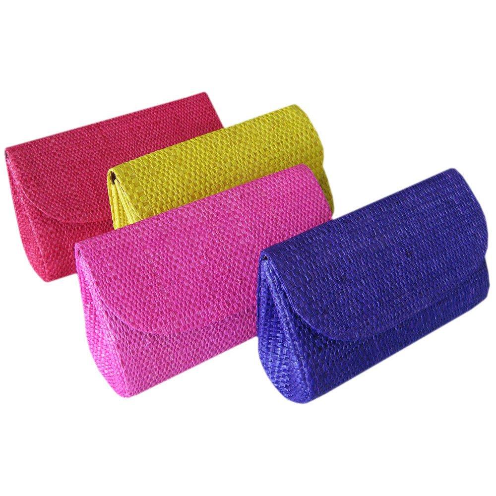 Mini Clutch de Palha de Buriti - Carteira de Mão - Coloridas