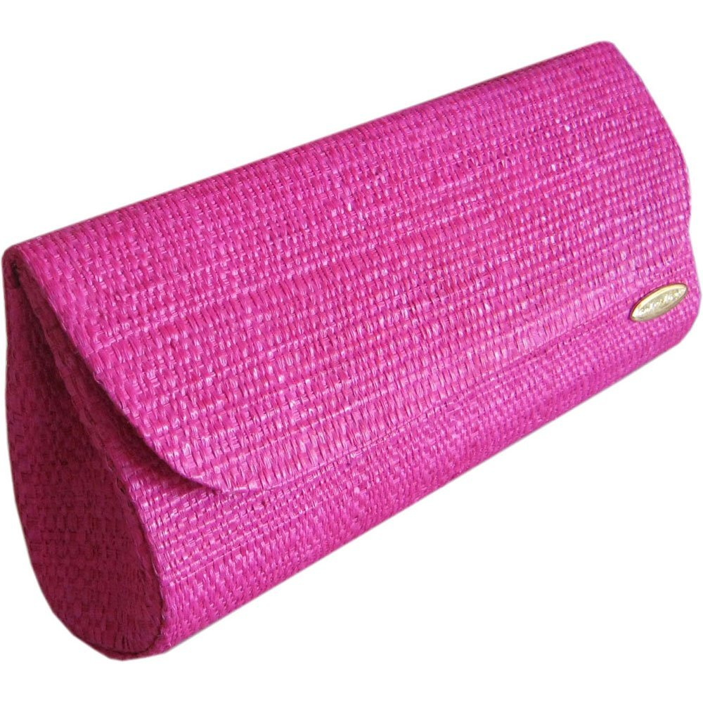 Clutch Bolsa Carteira de Mão em Palha de Buriti Cor Pink Maxi ou Mini