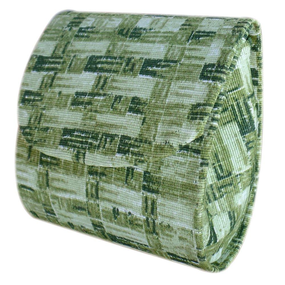 Niqueleira Porta Moedas em Tecido Verde Xadrez