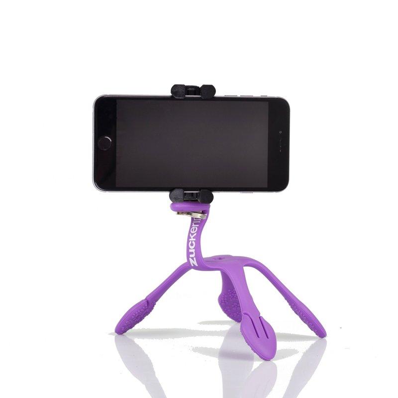 gekkopod para celular gopro e camera roxo