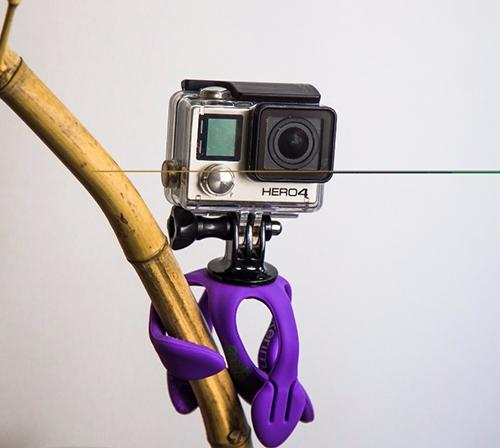 Gekkopod para Gopro e camera fotografica roxo zucherim
