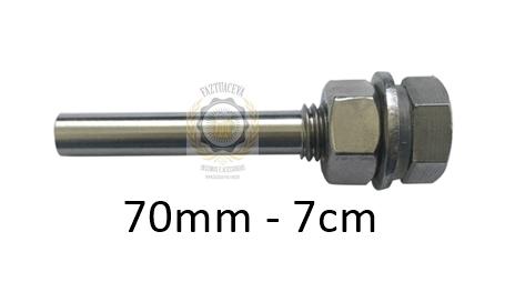 Poço termométrico de 70mm (7cm) em inox para sensor de termostato em fermentador cervejeiro ou panela cervejeira