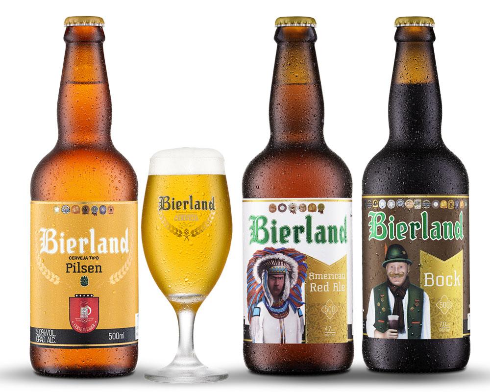 Kit Combo Cerveja Artesanal Bierland + Copo