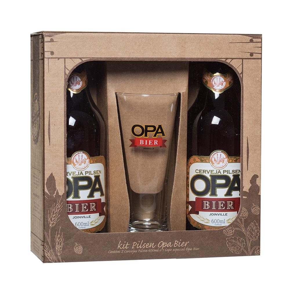 Kit Opa Bier 2 Cervejas Pilsen + 1 Copo Pilsen