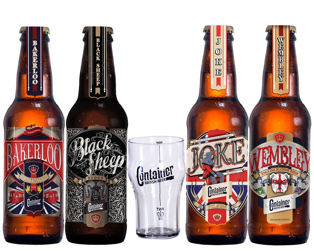 Kit Cerveja Artesanal Container 4 Cervejas + Copo