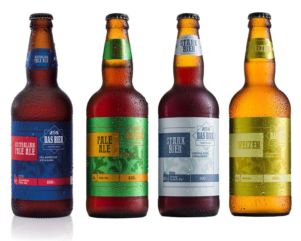 Kit Combo Cerveja Artesanal Das Bier 4 Cervejas