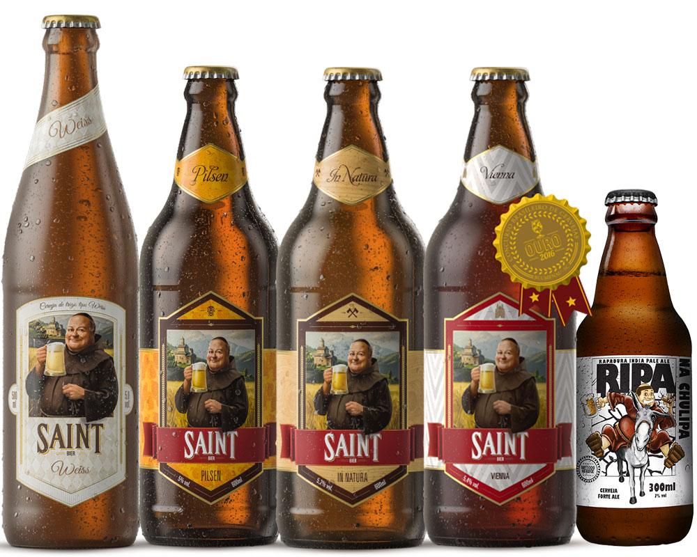 Kit Combo Cerveja Artesanal Saint bier 5 cervejas