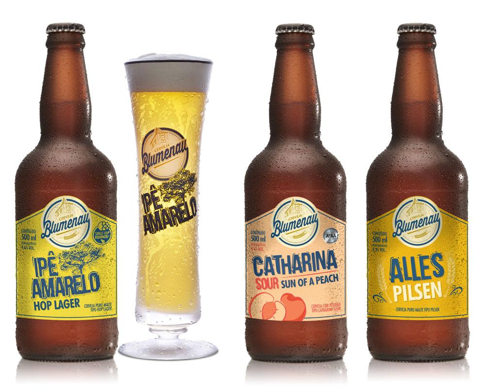 Kit Cerveja Blumenau 3 Cervejas + Copo Cristal