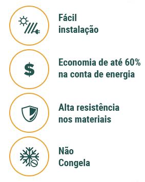 Características do Aquecedor Solar Acoplado