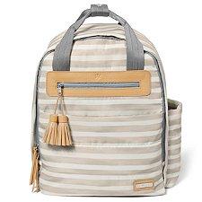 Bolsa Maternidade Skip Hop - Coleção Riverside Ultra Light Backpack (Mochila) - Oyster Stripe