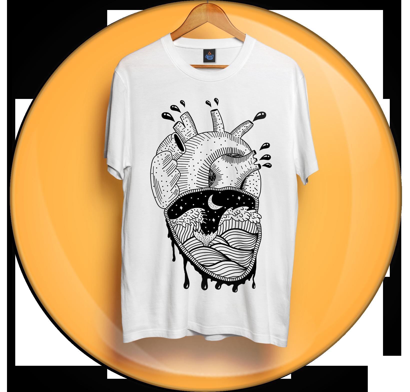 Camiseta Coração Agitado