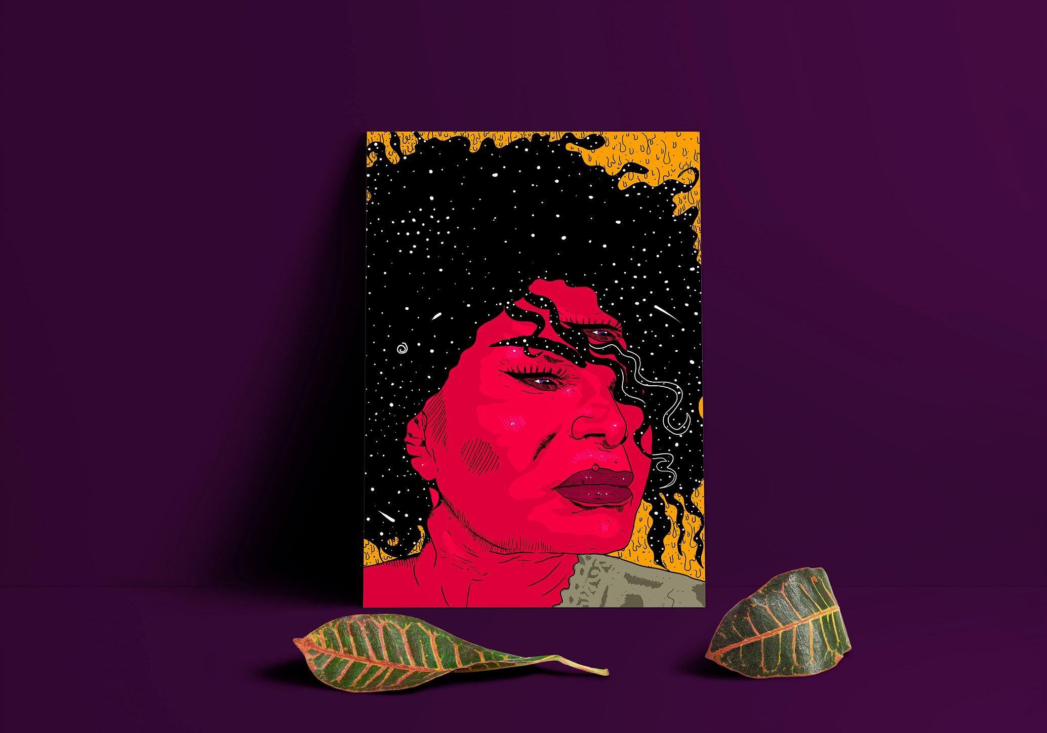 Poster decorativo Elza Soares