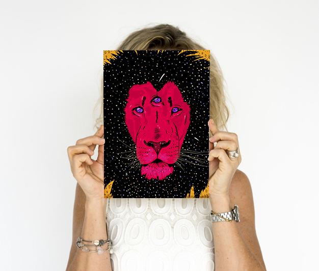 Poster Leão A4