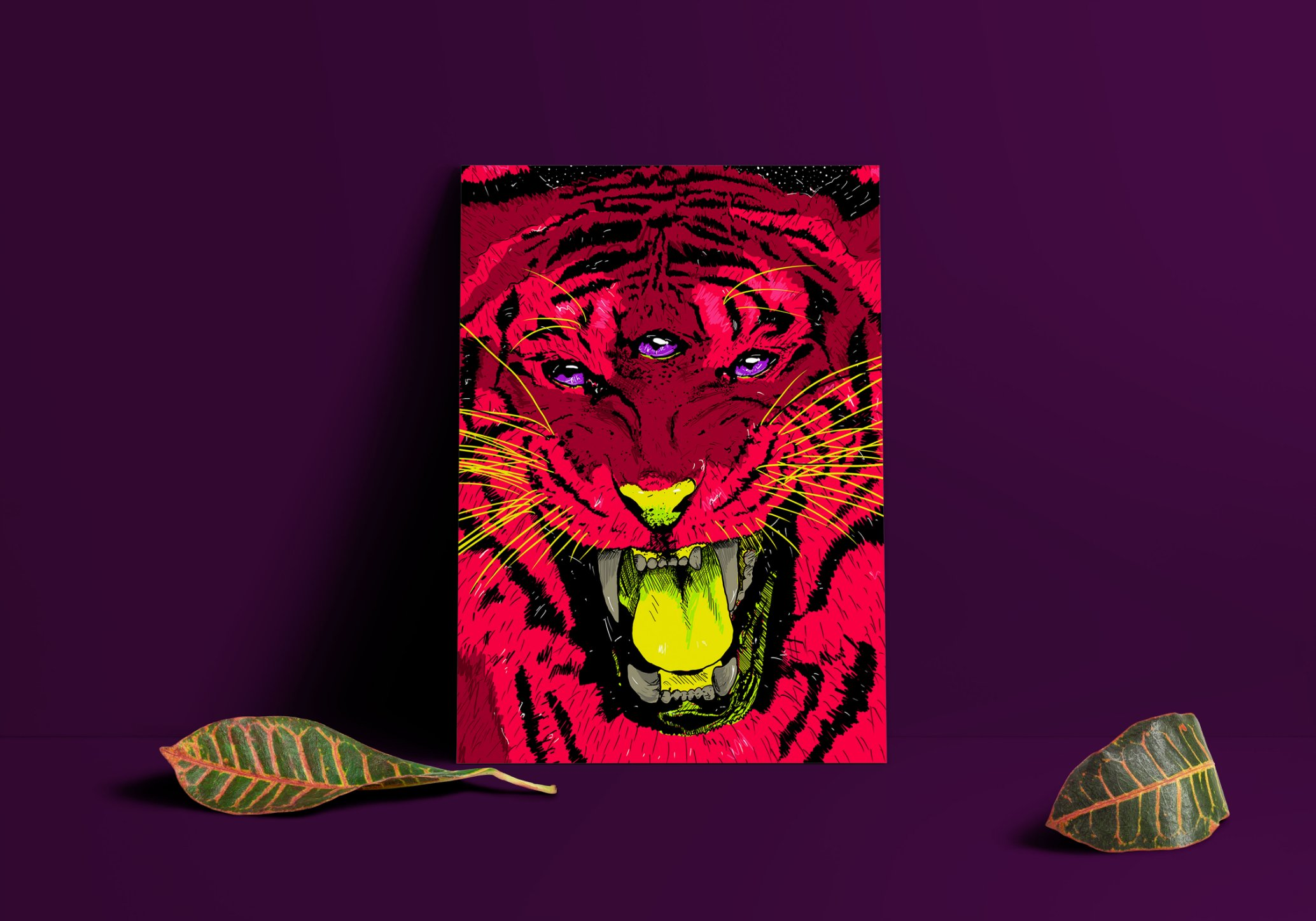 Poster decorativo Tigresa