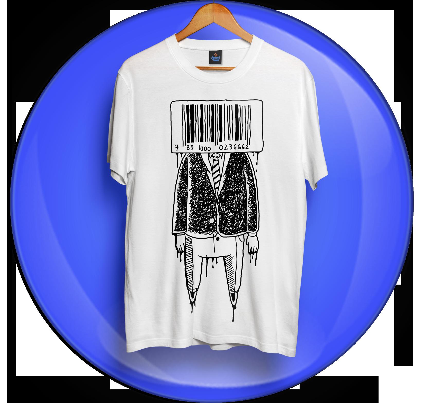 Camiseta Código de Barras - Chá de Fita
