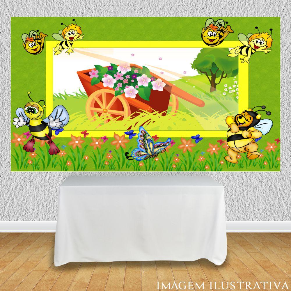 painel-para-festa-infantil-abelhinhas-e-o-carrinho-de-maoo