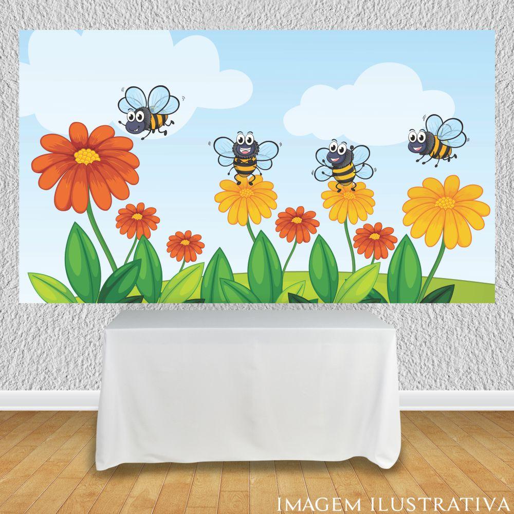 painel-para-festa-infantil-abelhinhas-nas-floress