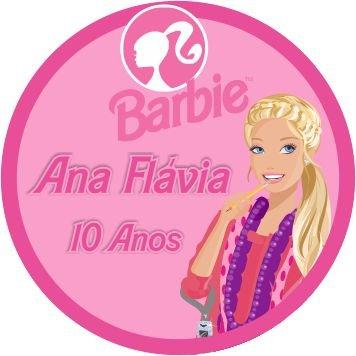 60 Rótulos adesivos para lembrancinha | Barbie 02