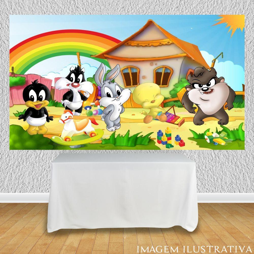 painel-de-festa-infantil-baby-looney-tunes-arco-iriss
