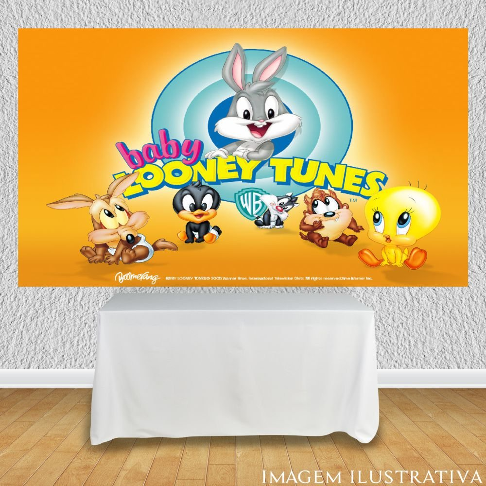 painel-para-festa-infantil-baby-looney-tunes