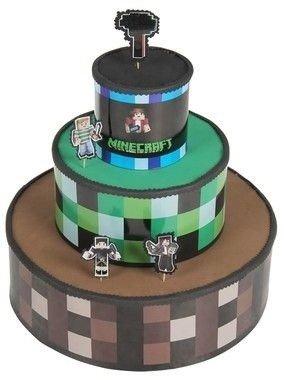 Bolo Cenografico Minecraft