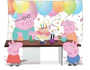 Kit Festa Peppa Pig Completo - Todos os Personagens