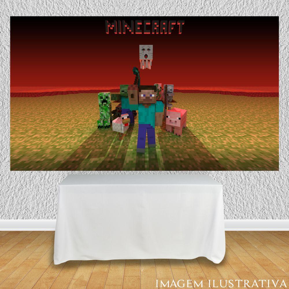 painel-de-festa-infantil-minecraft-netherr