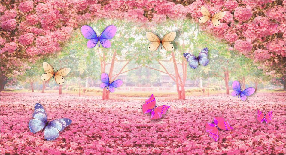 painel-3d-borboletas-no-jardim-encantado