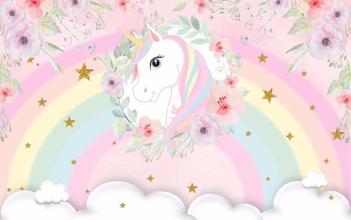 painel-festa-unicornio-arco-iris-e-nuvens