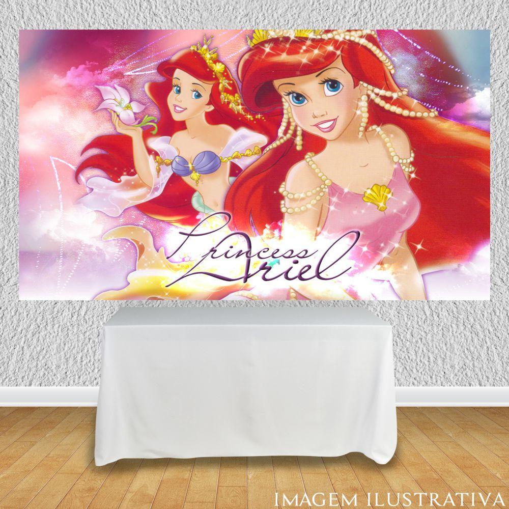 painel-para-festa-infantil-a-pequena-sereia-princesa-ariell