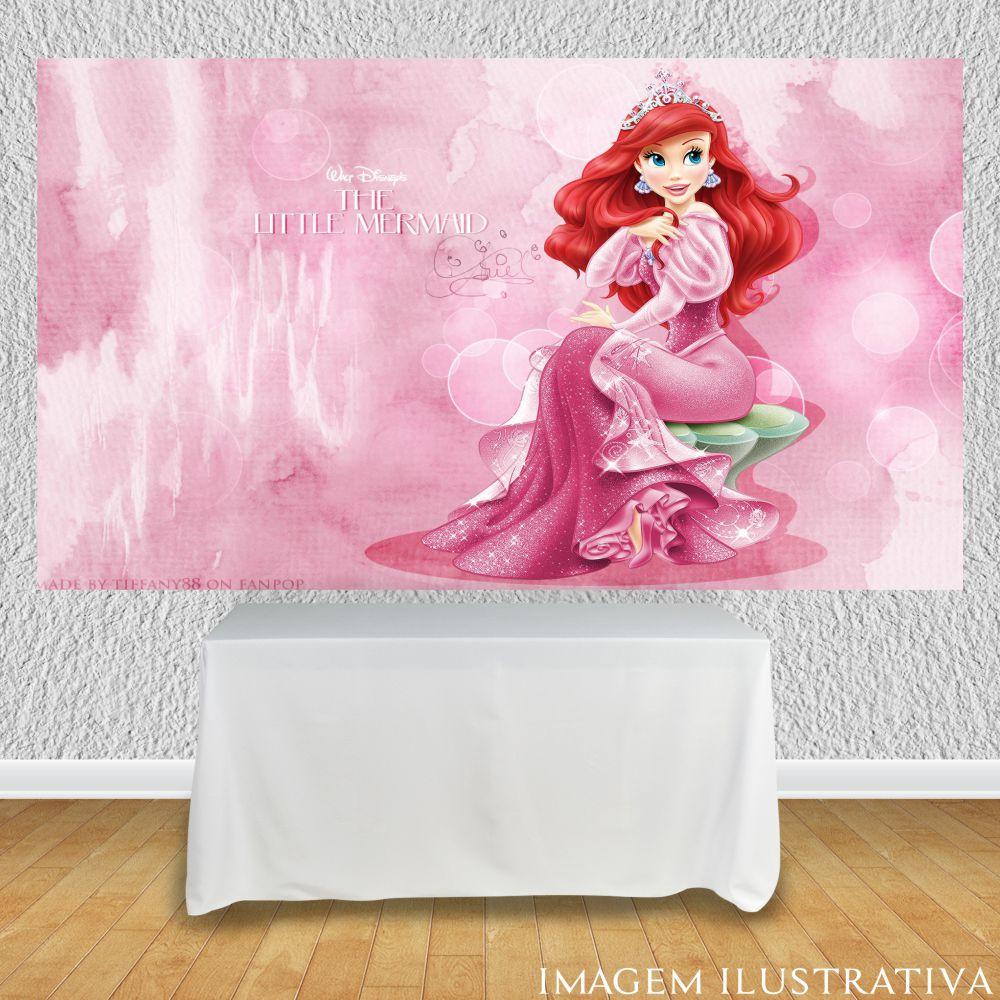 painel-para-festa-infantil-a-pequena-sereia-vestido-rosaa