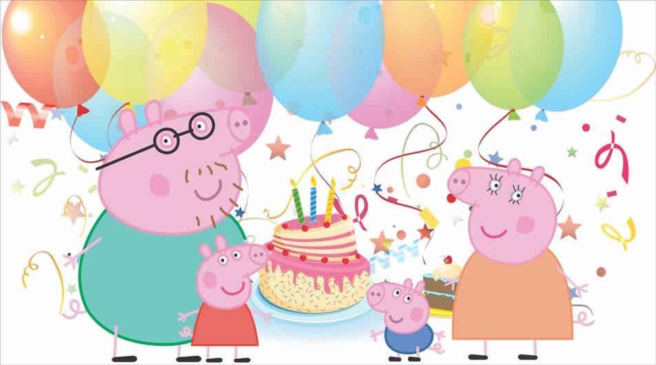 Painel De Aniversario Peppa Pig E Sua Familia Festa Oferta