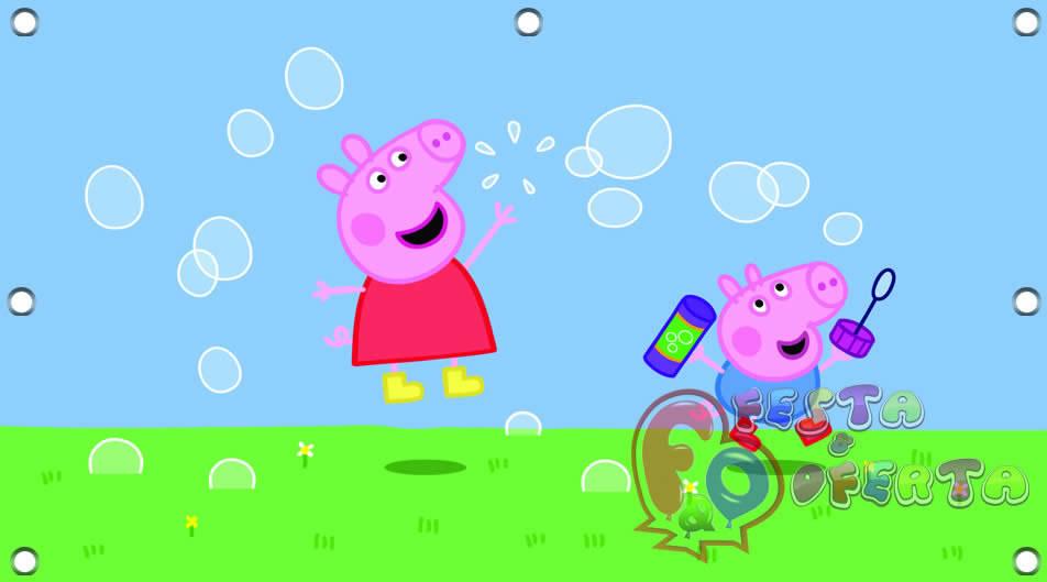 Painel De Aniversario Peppa Pig E George
