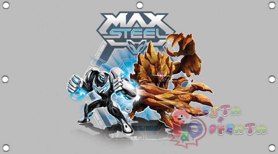 b20f3cc848 Painel para decoração de festa infantil - Max Steel - Festa   Oferta