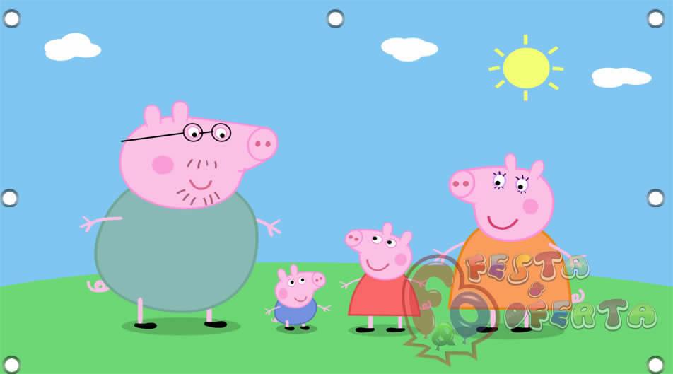 Painel De Festa Peppa Pig E Familia Festa Oferta