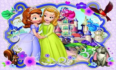decoração princesa sofia c sua amiga painel infantil festa oferta