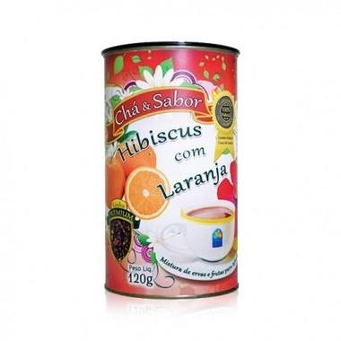 Chá de hibisco com laranja