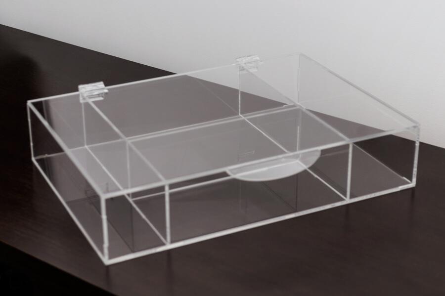 Caixa de maquiagem transparente de acrílico