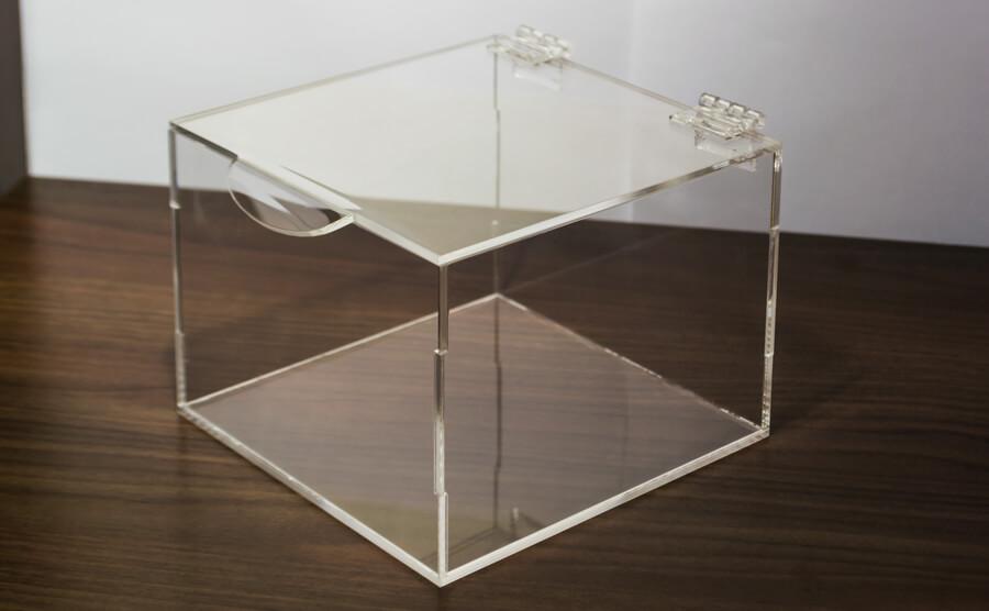 caixa organizadora em acrílico transparente