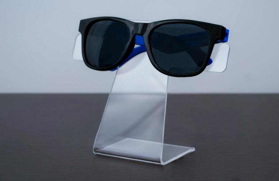 Suporte para óculos de acrílico transparente