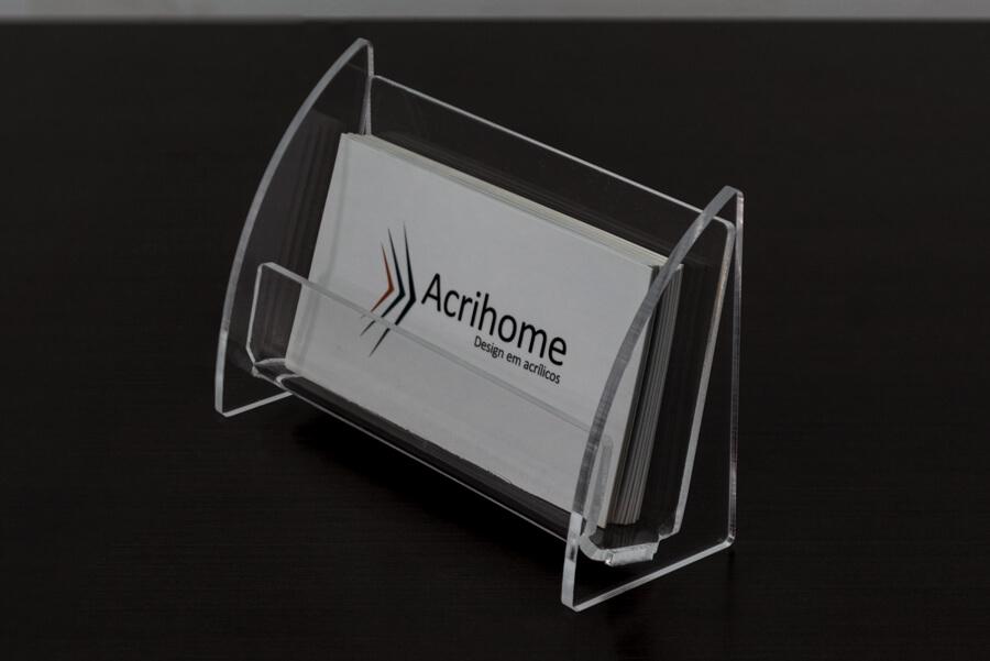 Porta cartões de visitas de acrílico transparente