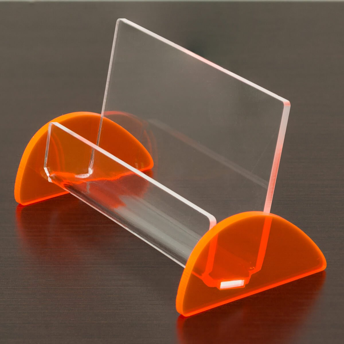 Porta cartão de visita laranja