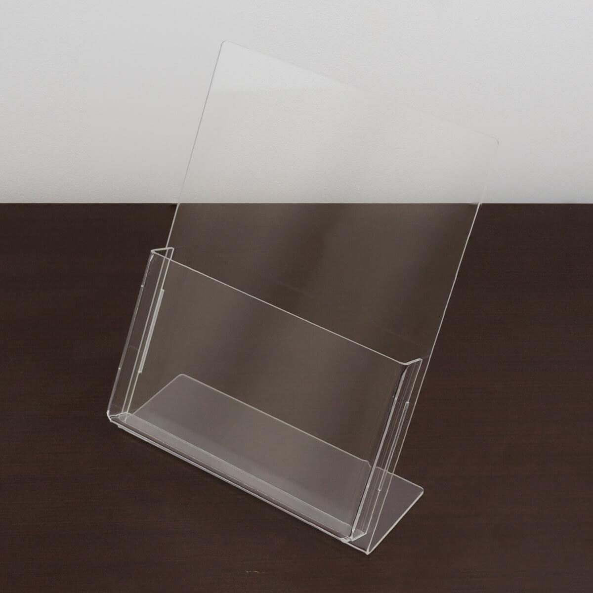 Porta folder de acrílico tamanho a5
