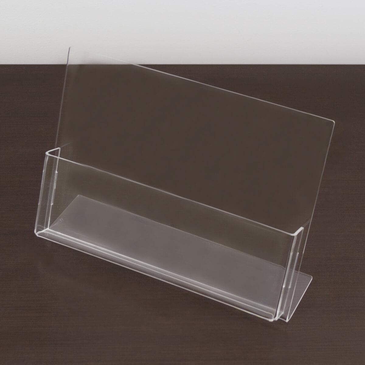 Porta folder A5 de acrílico na horizontal