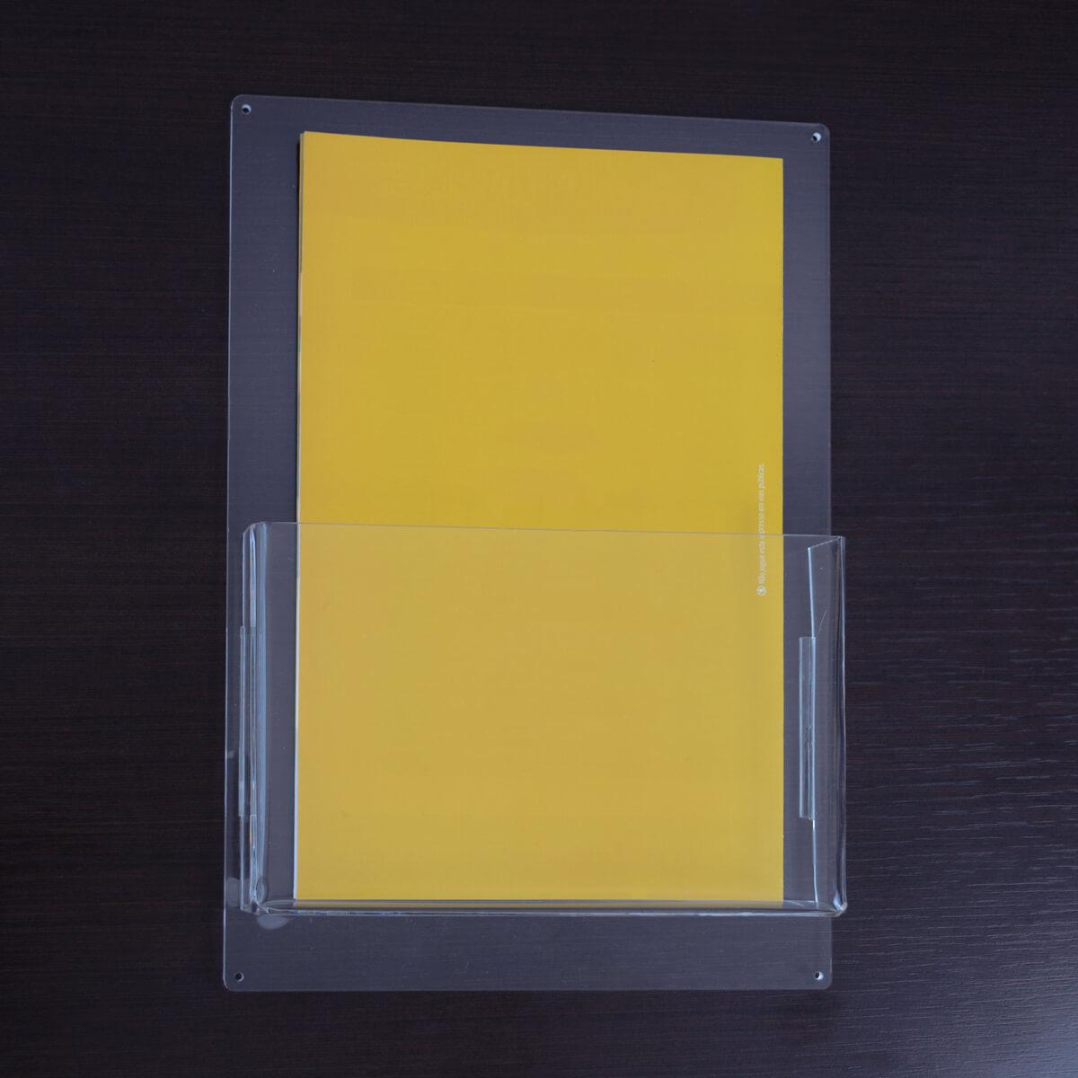 Porta folheto a5 de acrílico