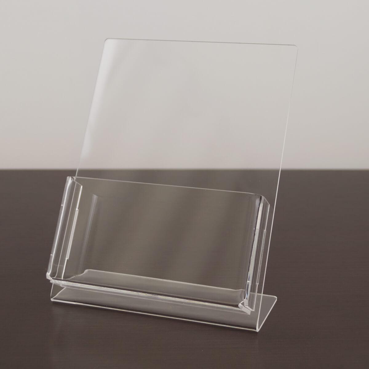 Porta folder de acrílico para folder A6