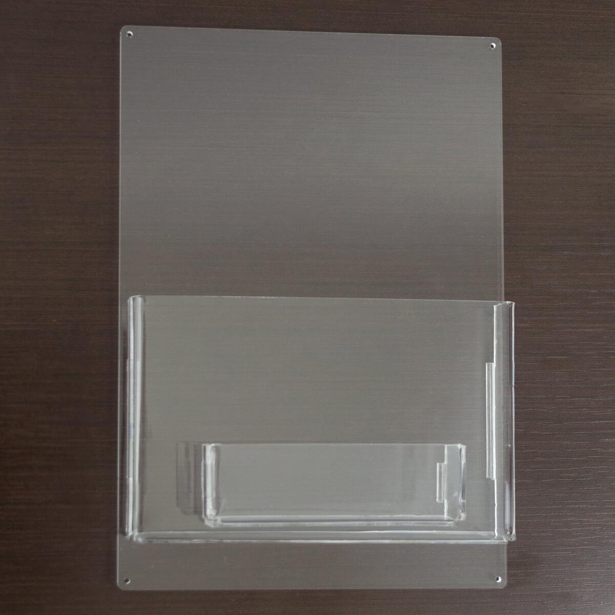 Porta panfletos de acrílico no tamanho a5 com porta cartão