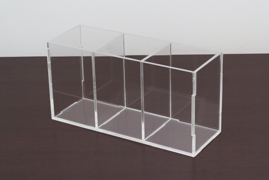 Porta pincel de acrílico transparente