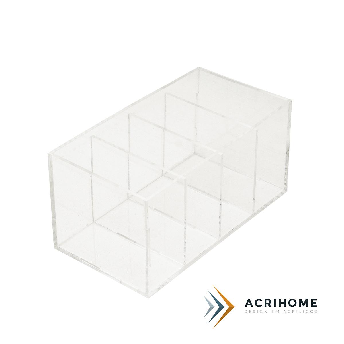 Porta controle remoto de acrílico transparente
