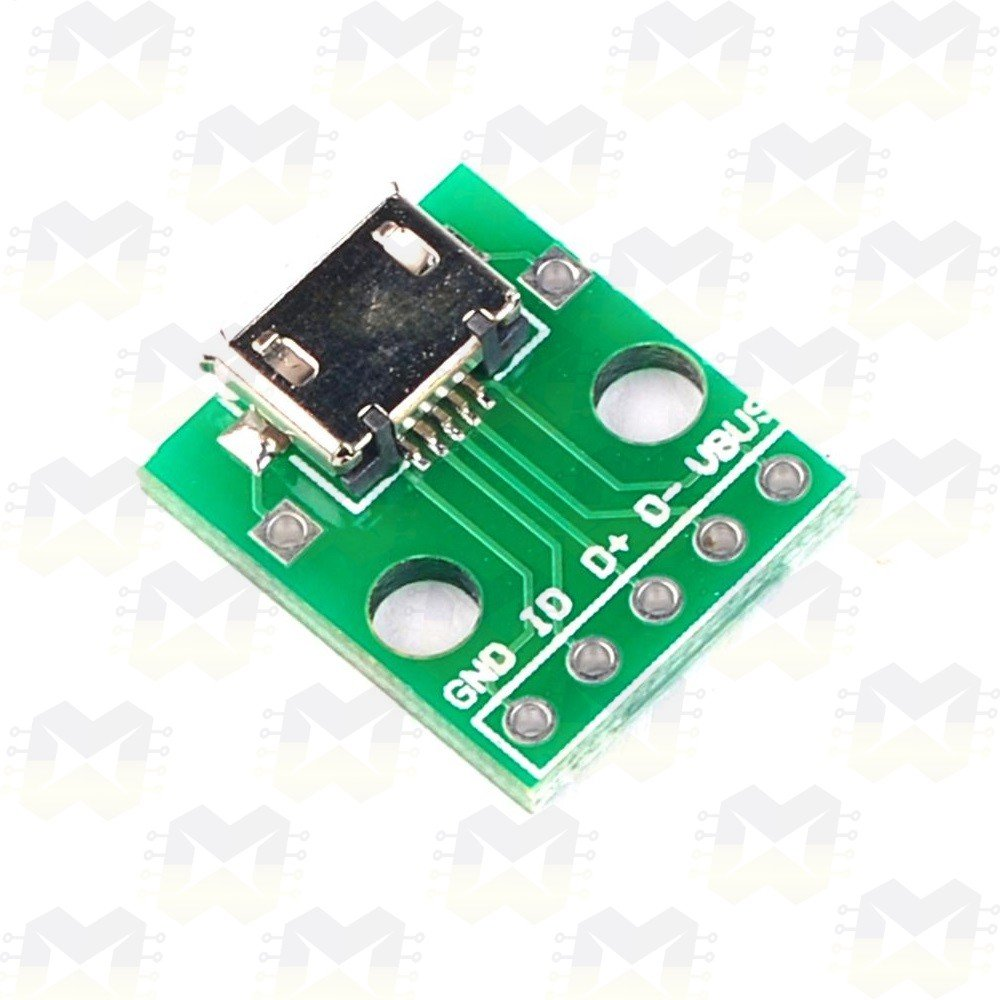 Adaptador Conector Micro USB Fêmea para DIP 2.54mm